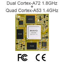Rockchip RK3399 System-on-Module For AI Devices